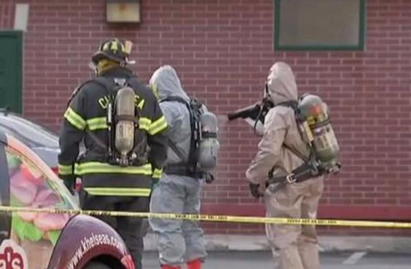 Decontamination - First Responders use Victory's handheld sprayer to neutralize potentially harmful chemicals